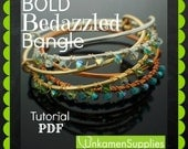 Bold Bedazzled Bangle with Swarovski Crystals Tutorial - Expert PDF