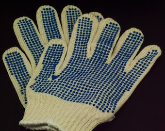 Metal Working Gloves With Vinyl Textured Dots - Set of 2 - Free Wire Sample Included - Perfect for Handling Heavy Wire - 100% Guarantee