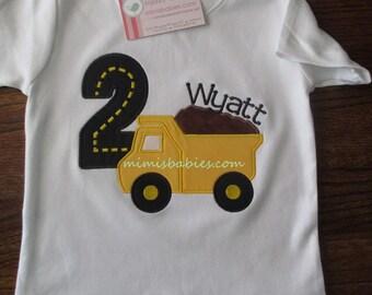 Dump Truck Construction Birthday Shirt Dump Truck Birthday Shirt