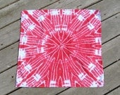 Hot Pink Bandana - Tye Dye Hippie Head Wrap