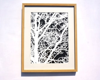 Tree screenprint - as seen on Apartment Therapy!