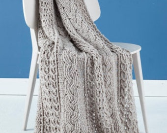 Cable Knit Crochet Afghan