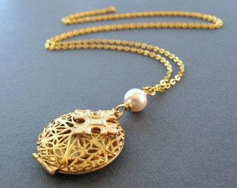 Cross Locket Necklace, Christian Necklace Religious Jewelry, Gold Cross Necklace Gold Locket - ARCHANGEL