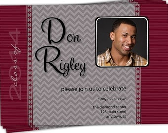 10 photocards - 4x6 or 5x7 Photo Graduation Announcements or Invitations/you can change the colors/Don design