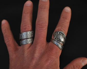 Victorian Spoon Ring Coil, Choose Your Style, Custom Made