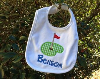 Personalized golf monogrammed bib