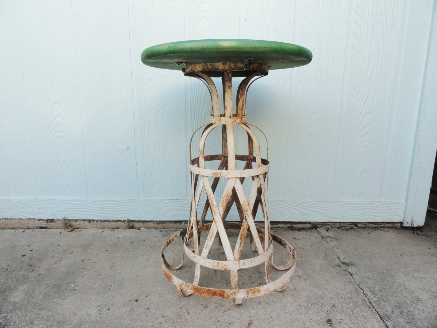 Vintage Table French Wrought Iron Side End Ornate Accent Table