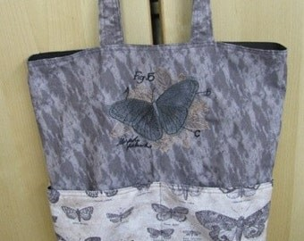Anatomy of a Butterfly Eco Friendly Tote, Bag, Shopping Bag, Purse