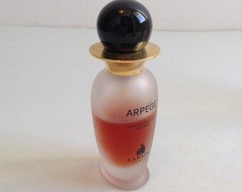 30 Ml. Satin Glass Bottle Arpege, Eau de Toilette Intense by Lanvin Paris. Vaporisateur Spray.  Vintage Perfume.