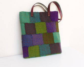 Hand Woven Laptop Tablet Bag Sleeve Patchwork 10'' - 11''