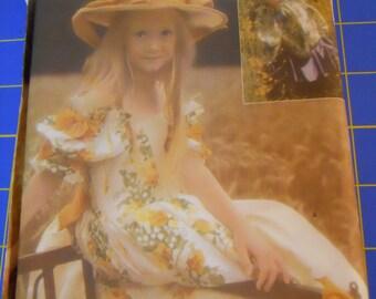 Vtg Simplicity Girls Princess Flower Girl Dress Sewing Pattern 5-6-7-8
