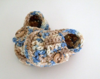 Baby Boy Shoes, Baby Button Loafers, Crochet Shoes, Toddler Loafers