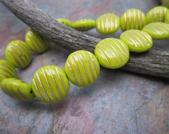 Limon 12mm Czech Glass Beads