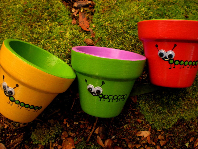 Painted Flower Pots Small Painted Pots Kids Party Favors