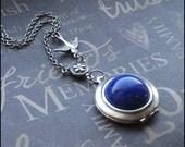 Lapis Lazuli Silver Locket Necklace - Enchanted Lapis Lazuli - Jewelry by TheEnchantedLocket - PRETTY Wife Mother Christmas Bridesmaid Gift