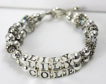Sterling Silver Mother's or Grandmother's  Bracelet Special Price!