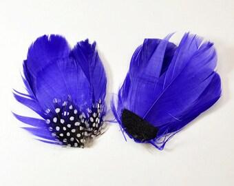 Guinea Goose Feather pad - Purple (010)