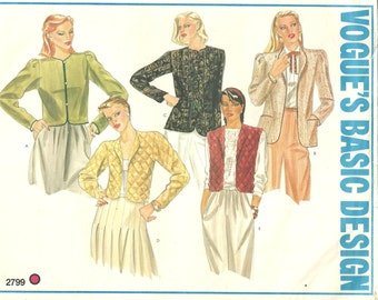 2799 Vogue Jackets Series of Vests Quilted jacket  sz 10