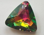 Clearance Sale -- 1 Celestial 25mm TRIANGLE shaped drop Crystal Pendant -- VITRAIL