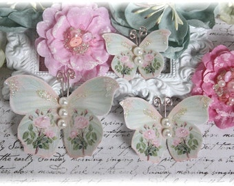So Chic Butterfly Embellishments for Scrapbooking or Cardmaking, Tag Art,  Mixed Media, Mini Albums