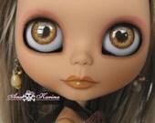 New Soft Resin OOAK REALISTIC custom Blythe eye chips set B7, by Ana Karina. UV laminated