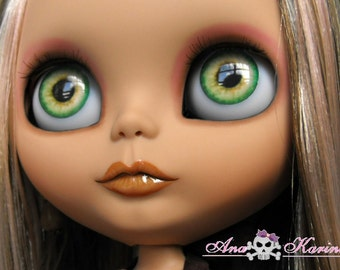 Blythe eye chips OOAK REALISTIC custom set A8, by Ana Karina. UV laminated