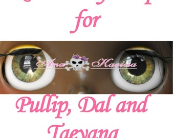 New Soft Resin OOAK custom Pullip, Dal, Taeyang eye chips set C19, by Ana Karina WATERPROOF