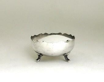 vintage sterling silver master salt cellar   ...   petite silver salt pig