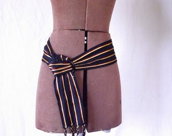70s Christian Dior designer cloth belt SM/M
