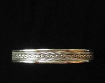 Woven Sterling Silver Cuff Bracelet, Delicate Weave Work