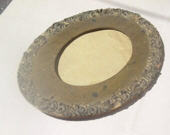 Antique Decorative Wooden Oval Frame Mat