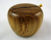 Wooden Magnetic Needle Keeper  - Canary and Black and White Ebony Wood, Handmade by Greg Hanson