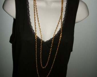 "Vintage Double Chain  36-42""  Long   necklace Sale was 16  now only 11"