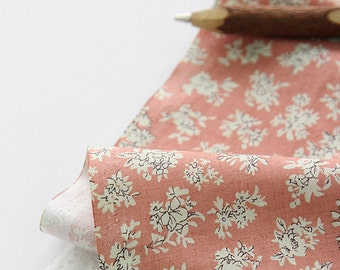 Murky Pink Wild floral on Cotton, U083