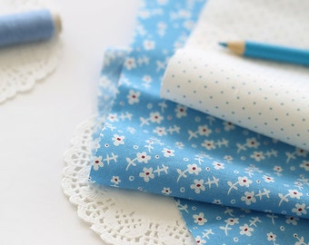 Lovely Petit floral on Blue cotton, U134