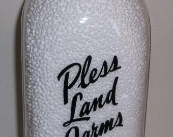 Plessland Farms Brighton MI Quart Michigan Milk Bottle