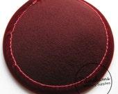 Burgundy Round Wool Felt Fascinator Hat Base With Velvet Trim
