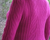 Raspberry Swirl Pullover - PDF Pattern