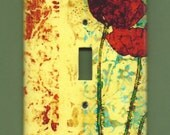 Two Poppies in Love Switchplate cover