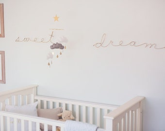 Giant wire words. ex: love, sweet dreams