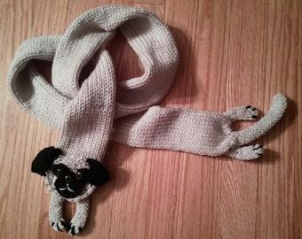 Long skinny pug scarf.