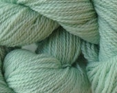 Merino Wool Yarn Lace Weight in Glass Green Hand Painted