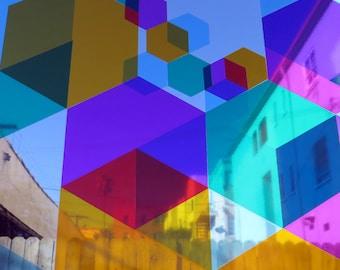 132 HEX6AGON Window Decals - multi colored - DIY
