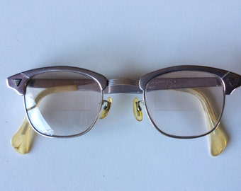 50% Off SALE-Vintage 1950s Aluminum Cat Eye American Optical Glasses
