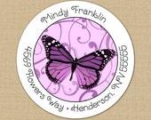 Butterfly Swirls - Custom Address Labels or Stickers