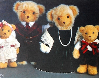 Teddy Bear Wardrobe Sewing Pattern UNCUT Vogue 8959 clothes clothes dress suit