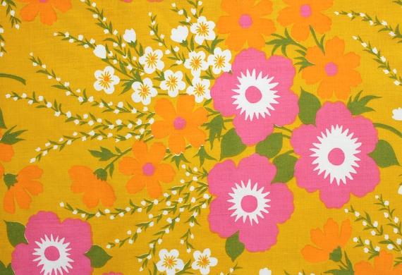 funky floral, a vintage sheet fat quarter