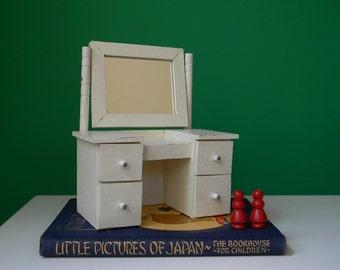 Vintage White Wooden Doll Dresser