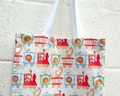 Bears Circus Stars Trains Offwhite Children Kid Baby Diaper Shoulder Shopping Library Lunch Tote Bag