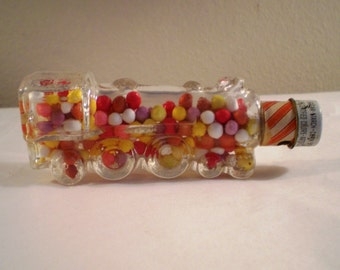 Stough #1028 Railroad Engine Children's Toy Musical Glass Candy Container